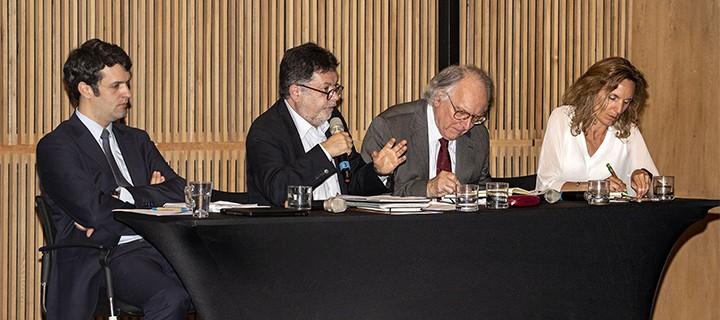 Jorge Avilés, Pedro Montt, Alfonso Muga y Fernanda Valdés.