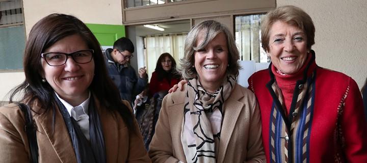 Anely Ramírez, Secretaria Ejecutiva CNED; Loreto Fontaine, Consejera CNED y Consuelo Valdés, Ministra de las Culturas, las Artes y el Patrimonio.