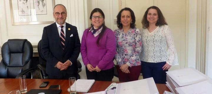 Luis Alfredo Santibáñez,  Anely Ramírez,  Daniela Meneses y Solange Isaacs.